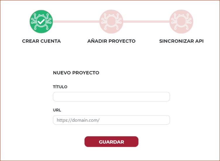 Añadir proyecto en SEOcrawl
