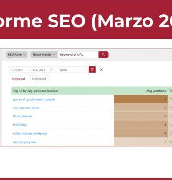 Informe SEO Marzo 2021