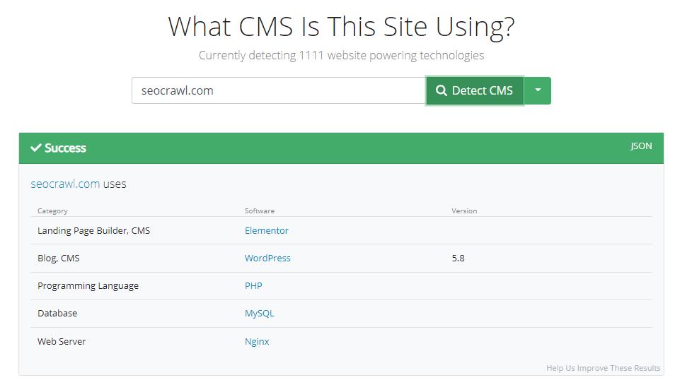What CMS para SEOcrawl