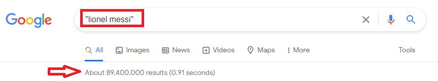 Exact match search