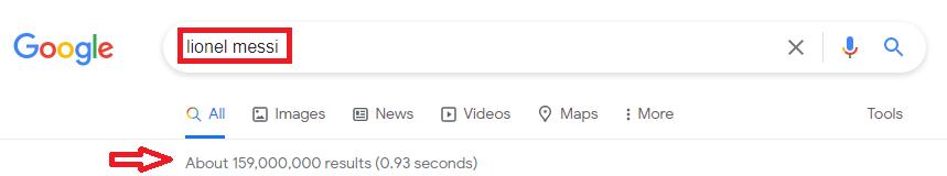 Regular SEO search